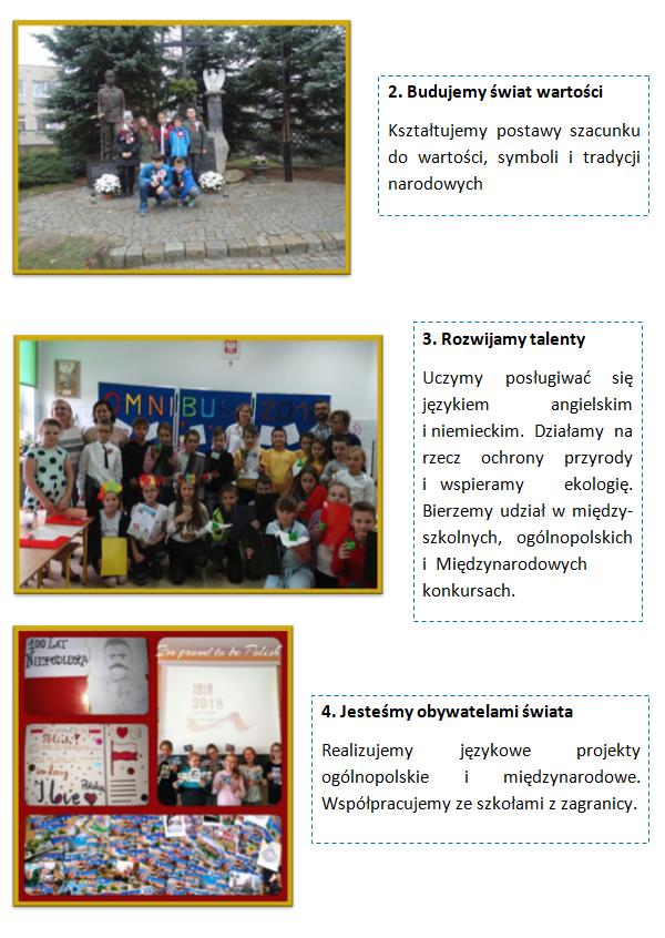 Folder - działania szkoły