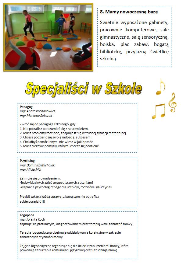 Folder - szkoła i uczniowie